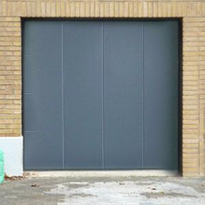 Porte de garage fame laterale