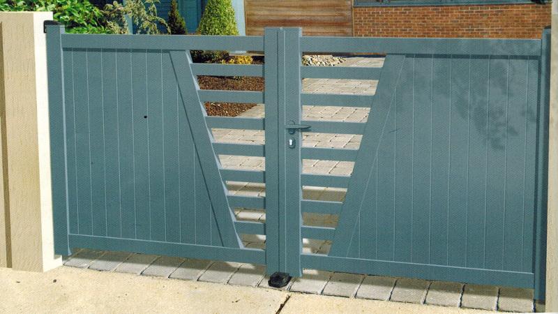portail aluminium design sur mesure