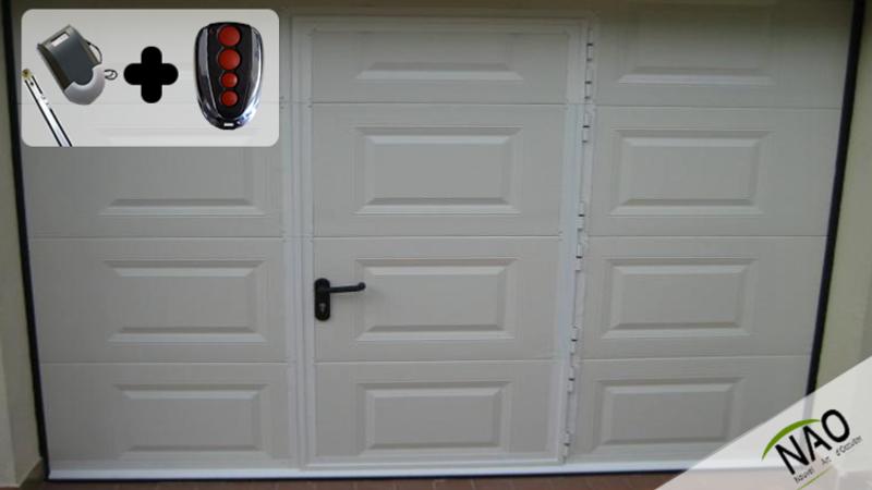 Porte de garage avec portillon portes garage for Porte garage isolante avec portillon