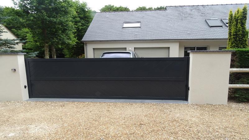 Portail coulissant avec portillon aluminium for Pack portail portillon