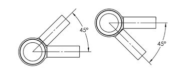 angle 45 poteau verre