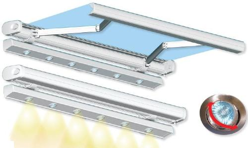 store de terrasse avec coffre rampe lumineuse. Black Bedroom Furniture Sets. Home Design Ideas