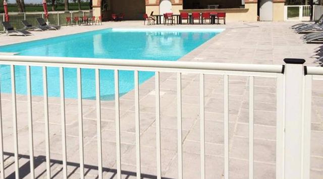 Cl ture barreaud e cl tures pour piscine for Cloture aluminium pour piscine