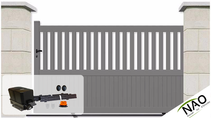 Portails coulissant sur mesure portail coulissant motoris for Portail motorise coulissant