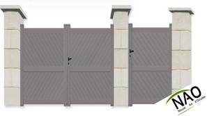 Pack portail avec portillon aluminium portails sur mesure for Pack portail portillon