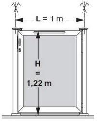 portillon verre ouvrant gauche