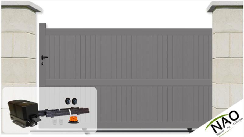 Portails coulissant sur mesure portail coulissant motoris - Portail garage coulissant motorise ...