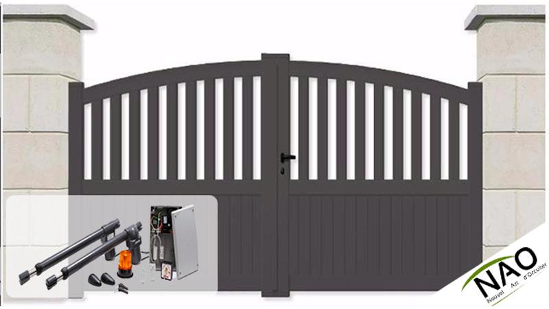 Portail battant sur mesure portail battant motoris for Portail coulissant motorise m