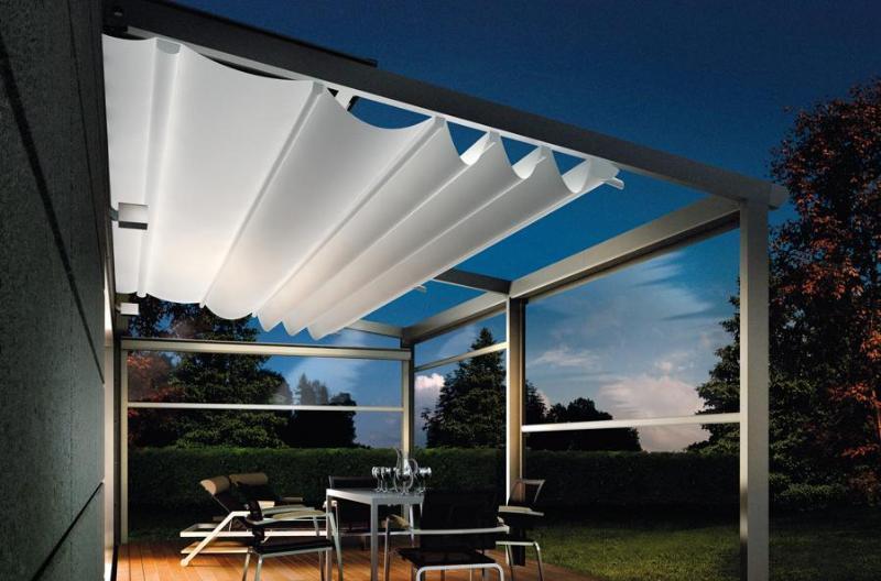 pergola aluminium pergola toile tissu pvc velum r tractable. Black Bedroom Furniture Sets. Home Design Ideas