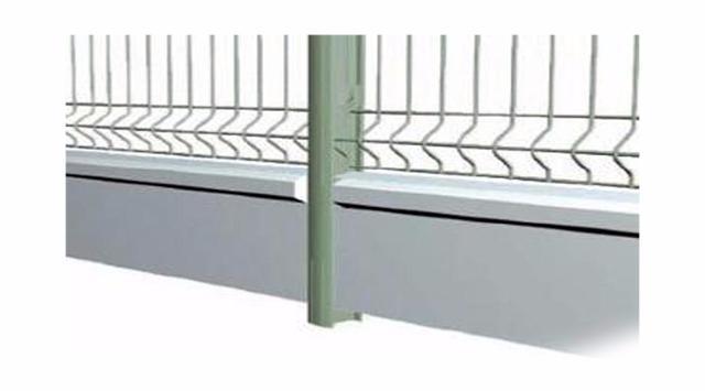 soubassements béton - plaques de soubassement pour grillage rigide