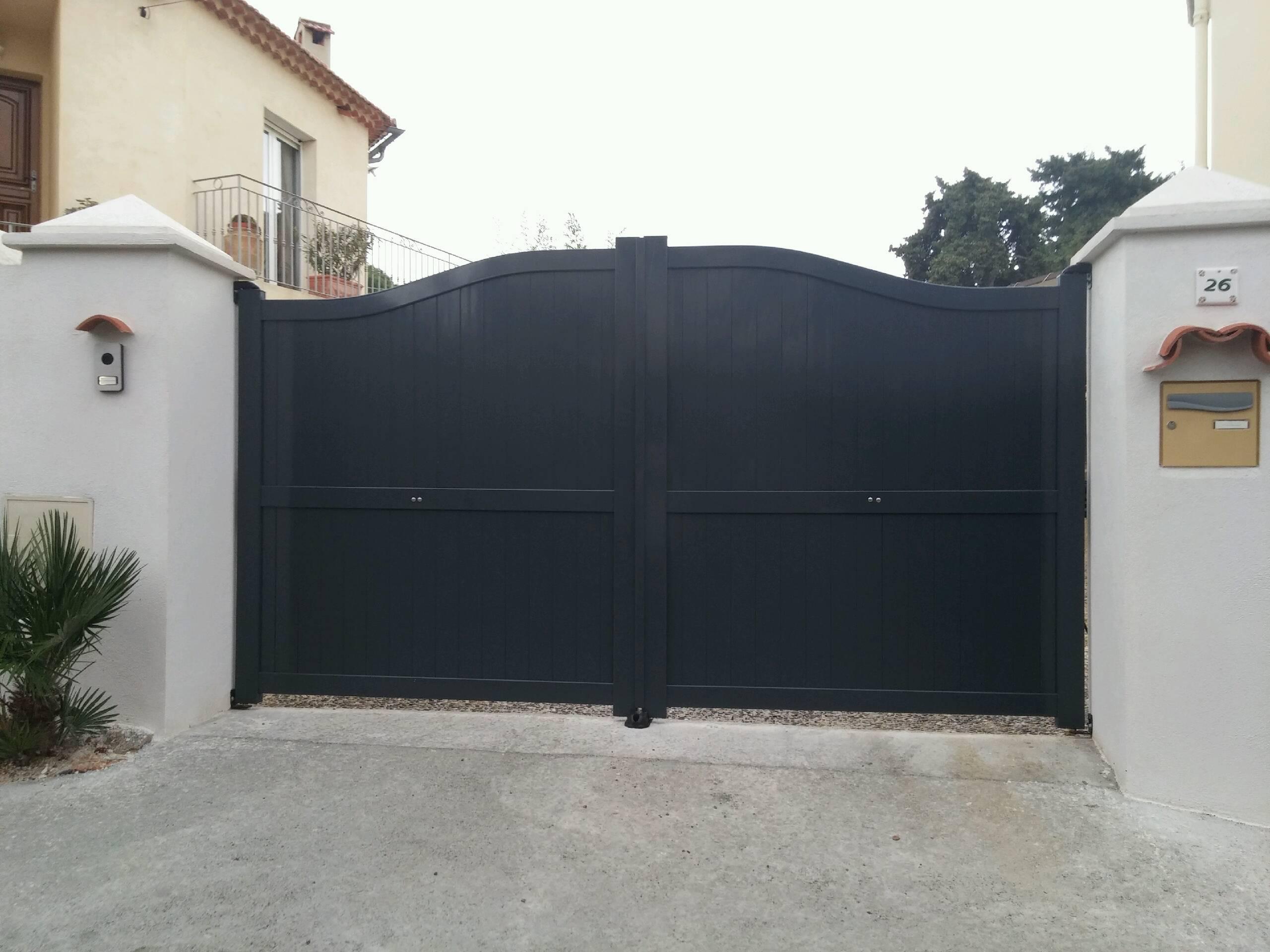 Portail aluminium pas cher prix portail aluminium - Portail aluminium battant ...