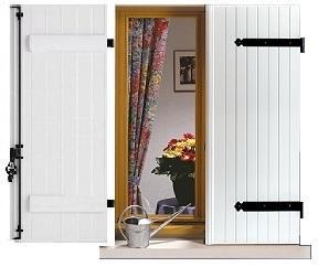volet battant pvc plein avec barres seules. Black Bedroom Furniture Sets. Home Design Ideas
