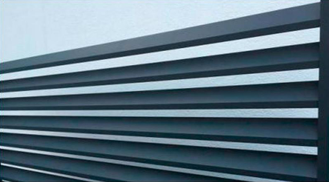 Cloture persienn e clotures aluminium for Cloture alu gris anthracite