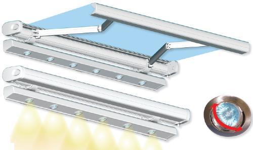 store de terrasse lumière intégré