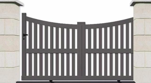 un portail coulissant de qualit sur mesure On portail coulissant ajoure