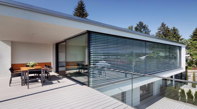 brise soleil aluminium lames orientables sur mesure. Black Bedroom Furniture Sets. Home Design Ideas