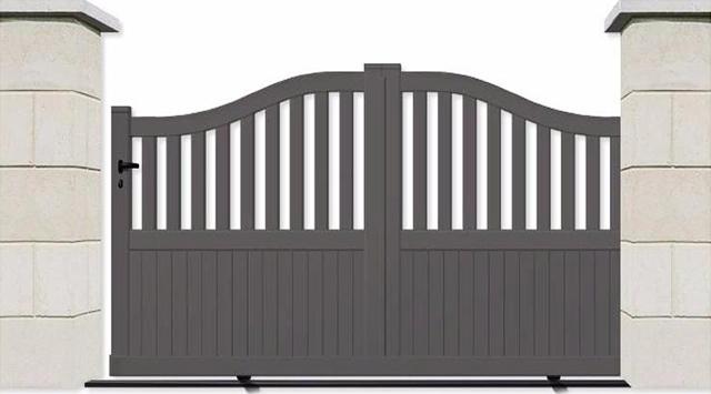 portail aluminium coulissant de qualit prix bas. Black Bedroom Furniture Sets. Home Design Ideas