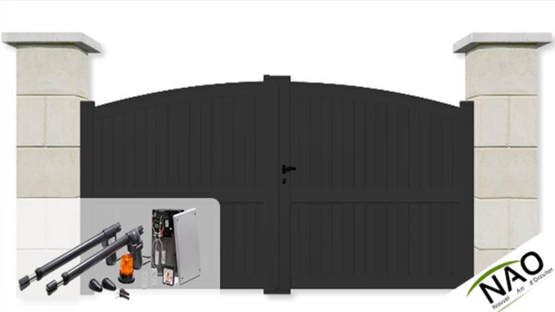 portail battant sur mesure portail battant motoris. Black Bedroom Furniture Sets. Home Design Ideas