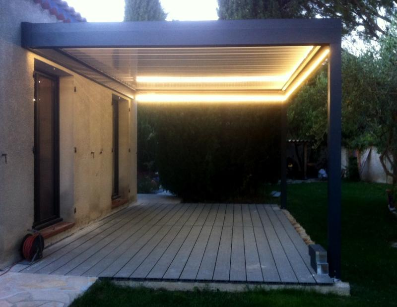 nao fermetures kit bandeau leds pour pergola bioclimatique nao. Black Bedroom Furniture Sets. Home Design Ideas