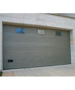 Porte de garage rainures horizontales