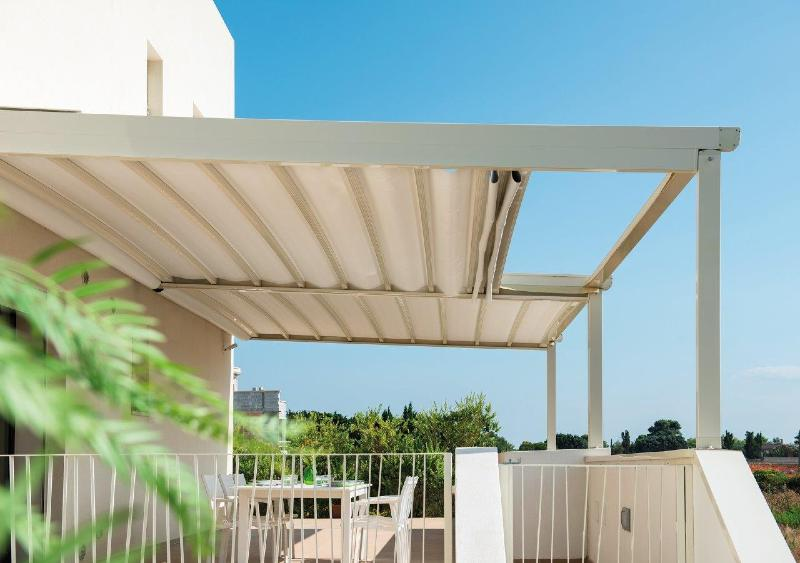 Pergola aluminium et toile r tractable easy ebay for Pergola toile retractable