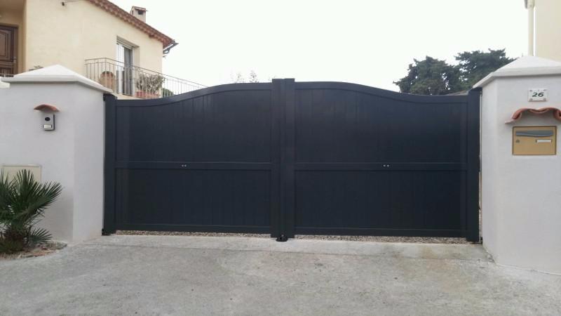 pack portail battant avec portillon e nao. Black Bedroom Furniture Sets. Home Design Ideas