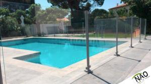 Cl ture verre pour piscine clotures piscine - Cloture piscine souple ...