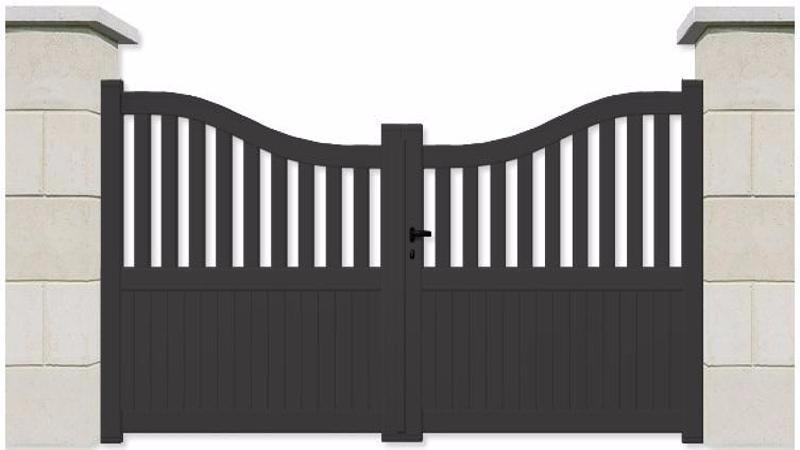 portail aluminium de qualit moindre co t. Black Bedroom Furniture Sets. Home Design Ideas