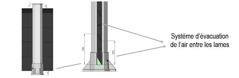 Système d'évacuation de l'air cloture alu en kit