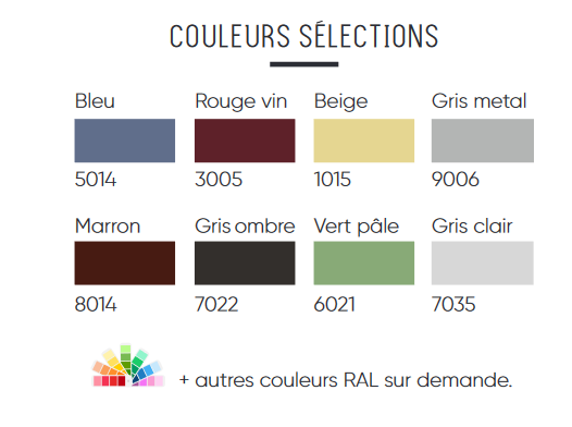 couleur selection carport